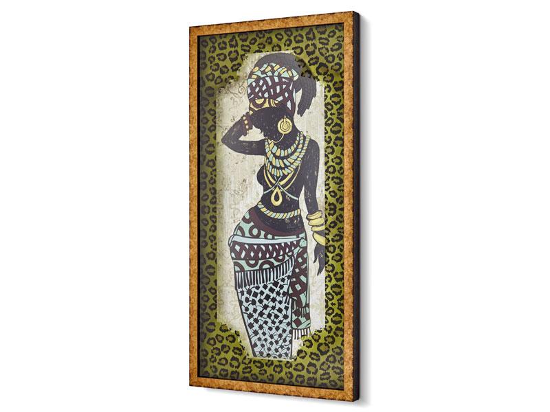 AFRICA TABLO BAYAN DESENLI 44x94 CM